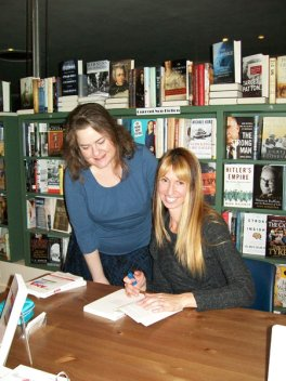 "Me signing copies of ""Beating Ana"" right after it was published. I was totally nervous!!"